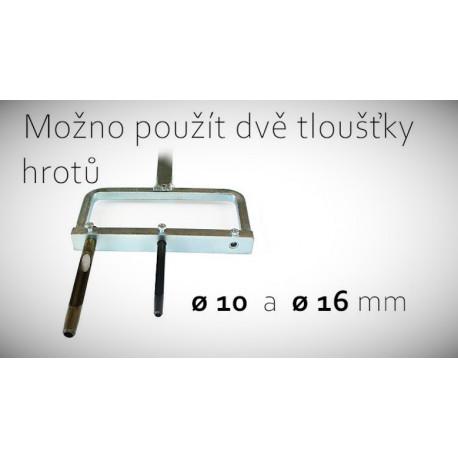Aerifikační vidle s hroty 10 mm nebo 16 mm